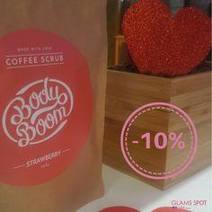 O maravilhoso esfoliante de café BodyBoom ajuda a combater a celulite, a reduzir estrias, pele casca de laranja, pele ressequida, pele dura e descamações. Deixando a pele sedosa, nutrida e hidratada com um tom mais bronzeado e luminoso. 😍 Agora com DESCONTO de -10%! ❤️  Promoção válida de 01-02-2017 a 18-02-2017. Limitado ao stock existente. Nao acumulável com outras promoções ou ofertas em vigor!