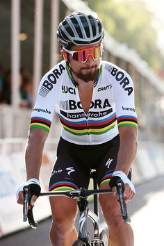 Peter Sagan prepares for the start of the People's Choice Classic street race a preview race to the 2017...