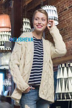 Модный и красивый кардиган с объемными жгутами: схема и описание вязания | Блог elisheva.ru