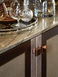 Interior Designer Profile - Carlisle Design Studio. Detailed image of cabinet doors with marble top