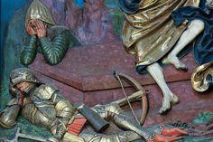 Altar von Veit Stoss in Krakau/Polen  Detail schlafender Wächter