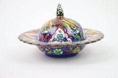 Handmade Ceramic Sugar/Candy Bowl-BrownGreen by BeyondTheSeaUS