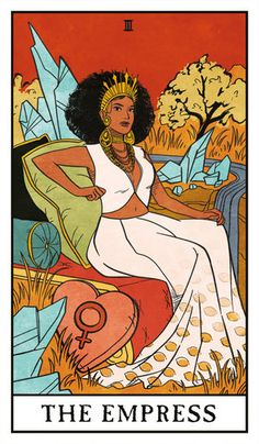The Empress - Modern Witch Tarot, an art print by Lisa Sterle, Witch Aesthetic, Aesthetic Art, Tarot Tattoo, The Empress, Modern Witch, Mystique, Witch Art, Major Arcana, Lisa