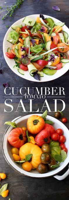 Cucumber Tomato Salad Recipe   http://CiaoFlorentina.com