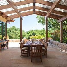 Pergola For Small Backyard Refferal: 4368014722 Pergola With Roof, Exterior Renovation, Roof Design, Greenhouse Plans, Pergola Plans, Green Roof, Contemporary Patio