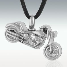 Motorcycle Stainless Steel Cremation Jewelry - Engravable