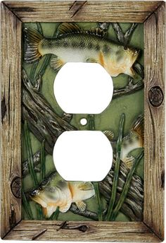 Bass Fish Receptacle Switch Plate Cover He already has the light switch cover so now he just needs this