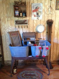 Old laundry display...