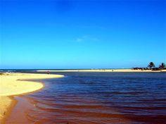 Barra do rio Caraivas.