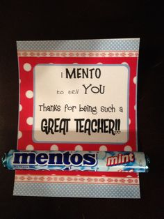 Teacher Appreciation Gifts! I did this exact thing for my son's teachers the other day! Love it