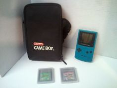 Nintendo Game Boy Color  - Includes Two Games with Black Storage Case #Nintendo
