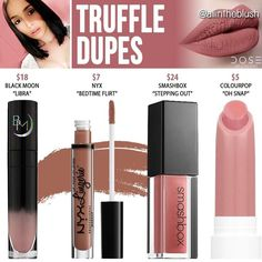 """155 Likes, 3 Comments - All in the Blush (@allintheblush) on Instagram: """"#TRUFFLE DUPES ARE HERE  Please leave me your @doseofcolors shade dupe requests in the comments!…"""""""