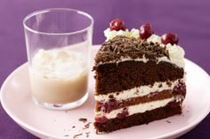 Awesome, Easy Black Forest Cake.. Actually ended up looking nicer than this when it was finished ;)