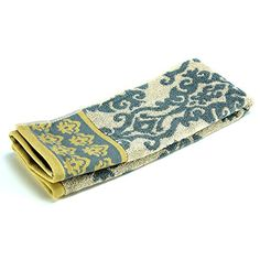 #applainces #This classic mix of traditional icons featuring a damask pattern and mini Fleur De Lys design in timeless #dove grey, charcoal and soft yellow work t...