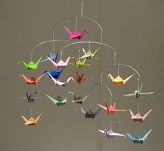 Beautiful Origami Crane Mobile