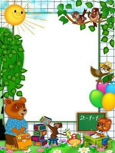 school frames and borders Boarder Designs, Page Borders Design, School Border, Diy And Crafts, Crafts For Kids, Boarders And Frames, School Frame, Kids Background, Powerpoint Background Design