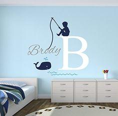 Fishing Boy Personalized Name Wall Decal - Baby Boy Room ... https://www.amazon.com/dp/B01KDP9X7W/ref=cm_sw_r_pi_dp_x_E780yb555K387