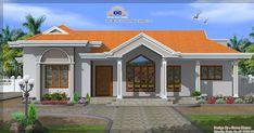 Simple Three Bedroom House Plans In Kenya (see description) (see description) Indian Home Design, Kerala House Design, Bungalow Haus Design, Modern Bungalow House, Modern Cottage, Single Floor House Design, Simple House Design, House Floor, Colonial House Plans