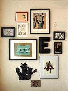 Lisa Congdon's art wall