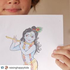 Need to know! Gorgeous Krsna coloring in pics #free download!  #Repost @raisinghappykids with @repostapp.  Downloadable coloring picture on my blog today... Coz why not! . . . #coloring #download #artsandcrafts #homeschool #momofboys #krsna #printable #fun #freebie #coloringkrsna