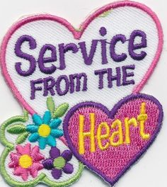 Girl-Boy-Cub-SERVICE-FROM-THE-HEART-Fun-Patches-Crests-Badges-SCOUTS-GUIDE