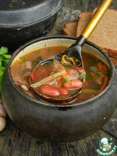 Суп с фасолью и грибами - кулинарный рецепт