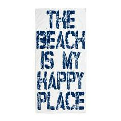 Beach Happy Place Beach Towel > Summer Beach Towel > Funny Garden Gifts and Garden Shirts