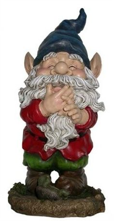 Smiling Garden Gnome Statue Garden Gnomes See the rest of our collection of garden gnomes. This garden gnome is really tickled about something. Garden Gnomes For Sale, Yard Gnomes, Gnome Garden, Lawn And Garden, Gnome Statues, Garden Statues, Garden Sculptures, Illustration Noel, Kobold