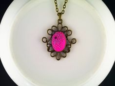 Pink and purple Amarantos necklace