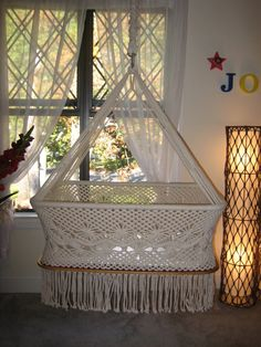 Spectacular handwoven hanging bassinet by CataleyaImports on Etsy, $199.00 I may just need this!!! :D