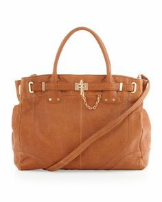 Zoe Leather Weekender Bag, Camel by Rachel Zoe at Last Call by Neiman Marcus.