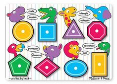 Melissa and Doug Shapes Peg Puzzle Wooden Toddler Pre-school Jigsaw. Buy Kids Toys Online From Green Ant Toys Online Toy Shop. Toddler Toys, Kids Toys, Puzzles For Toddlers, Preschool Puzzles, Preschool Projects, Preschool Classroom, Learning Shapes, Learning Toys, Learning Centers