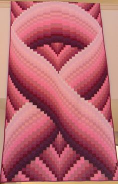 Awareness Ribbon Quilt by RetroRoger on Etsy, $575.00 beautiful!