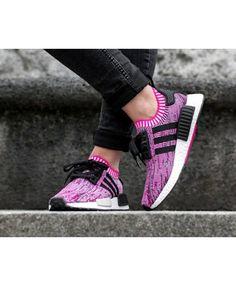 d68ea3bb672f3 Adidas NMD R1 Primeknit Rose Pink White Balck Shoe Womens Cheap Sale Pink  Nmd, Cheap