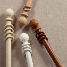 Maine Fixed White Curtain Pole Dia. : Designed from sturdy wood with elegantly carved grooved finials, our Maine curtain pole includes fittings as well as coordinating curtain rings for a consistent look, available in a choice of colours and size White Curtain Pole, Wooden Curtain Poles, Metal Curtain Pole, Wood Curtain, Curtain Rails, Metal Pole, Double Curtains, Modern Curtains, White Curtains