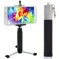 First2savvv ZP-100A01 black Portable Self-portrait handheld Pole Arm monopod stand Camcorder/Camera/mobile phone tripod mount adapter bundle for Nokia Lumia 1320 Asha 503 Lumia 1520 Lumia 630 Lumia 930 Lumia 635 with LENS Cleaning Cloth