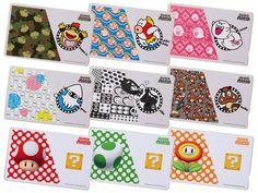 """Super Mario"" IC card stickers"
