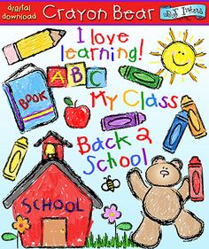 Last chance to download your 'Crayon Bear' clip art collection for 20% off the regular price!  :) This darling collection will make you feel like a kid again! Use it for all your school-time projects, notes, worksheets and more! Sale ends tonight! (7/24/13) Go to product: http://www.djinkers.com/crayonbear.html