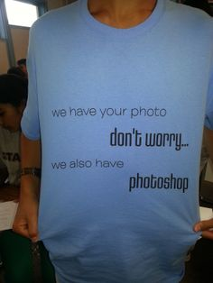 Another fun staff shirt with attitude. =)