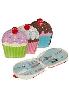 ModCloth : Sweeter than a Cupcake Manicure Set -$7.99