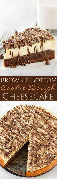 Rate this post Brownie-Bottom-Cookie-Dough-Cheesecake – Impressive, yet super easy. Looks as fa… Brownie-Bottom-Cookie-Dough-Cheesecake – Impressive, yet super easy. Looks as fancy as any dessert you've had from a restaurant! No Bake Desserts, Just Desserts, Delicious Desserts, Yummy Food, Cheesecake Desserts, Strawberry Cheesecake, Birthday Cheesecake, Oreo Desserts, Party Desserts