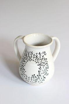 Ceramic Hand Washing NatlaNetilat YadayimIsrael by TzadSheni