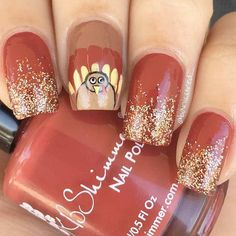 48 Cute and Amazing Thanksgiving Nail Designs That Will Inspire You All Through . - 48 Cute and Amazing Thanksgiving Nail Designs That Will Inspire You All Through The Fall; Turkey na - Thanksgiving Nail Designs, Thanksgiving Nails, Thanksgiving Turkey, Trendy Nails, Cute Nails, My Nails, Holiday Nails, Christmas Nails, November Nails