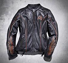 #HDNaughtyList   Harley Davidson Women's Juneau Leather Riding Jacket is sexy!!!