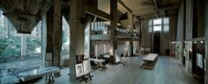 Ricardo Bofill`s Residence (Barcelona) It is an old cement factory.