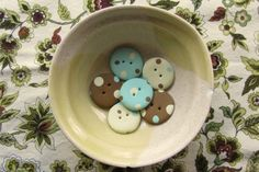 Polkadot buttons from polymer clay