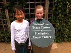 We found the center of the maze! - Hampton Court Palace Maze Centre