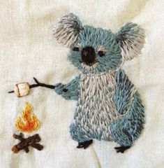 home - Gnostic Forest: valerie-rustad: And a koala! home - Gnostic Forest: valerie-rustad: And a koala! History of Knitting Yarn spinning, weaving and stitching jobs su. Diy Embroidery, Cross Stitch Embroidery, Embroidery Designs, Embroidery Digitizing, Embroidery Books, Embroidery Supplies, Modern Embroidery, Hand Embroidery Patterns, Diy Broderie