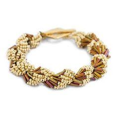 Best Seed Bead Jewelry  2017  Gold Metallic Shell Game Bracelet Kit by Jill Wiseman Designs