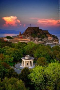 The Old Fortress in Corfu, Greece